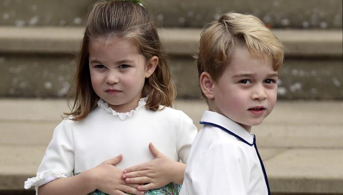 H πριγκίπισσα Σάρλοτ και ο πρίγκιπας Τζορτζ
