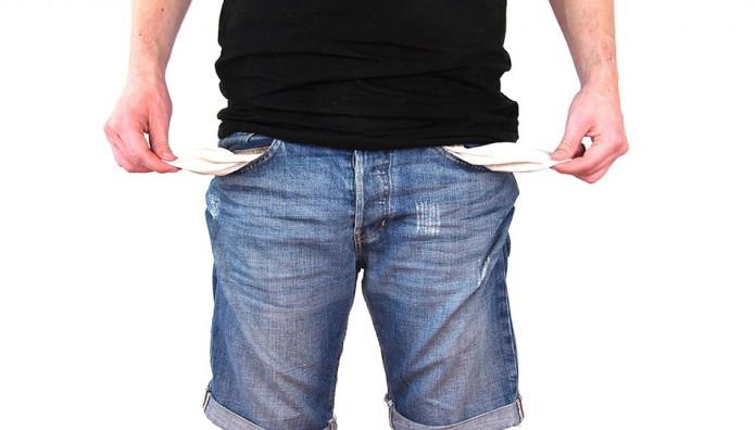 χωρίς λεφτά απένταρος