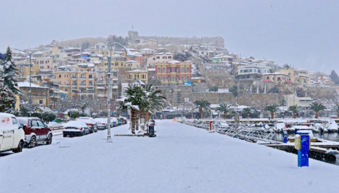 Χιόνια στην Καβάλα