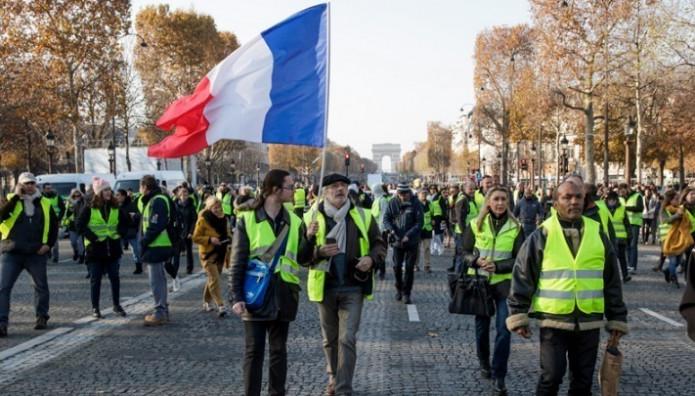 Διαδήλωση των κίτρινων γιλέκων στη Γαλλία