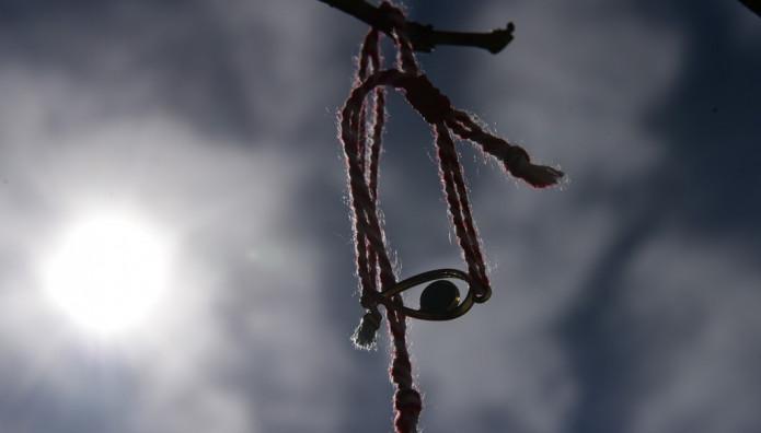 Βραχιολάκι του Μάρτη σε δέντρο