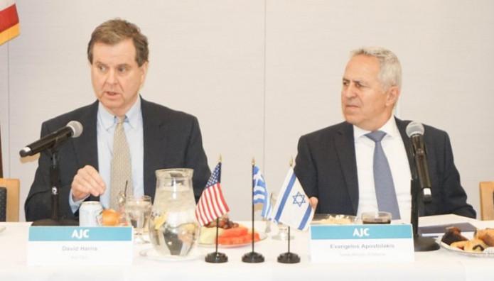 """Ο υπουργός  Άμυνας  Ευάγγελος Αποστολάκης στο  """"American Jewish Committee"""""""
