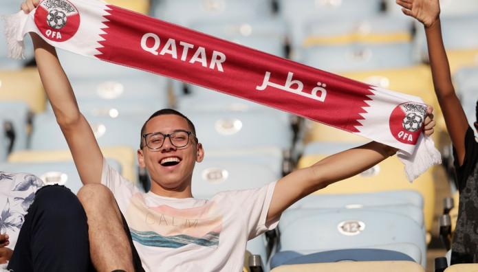 Οπαδός του Κατάρ στο Κόπα Αμέρικα