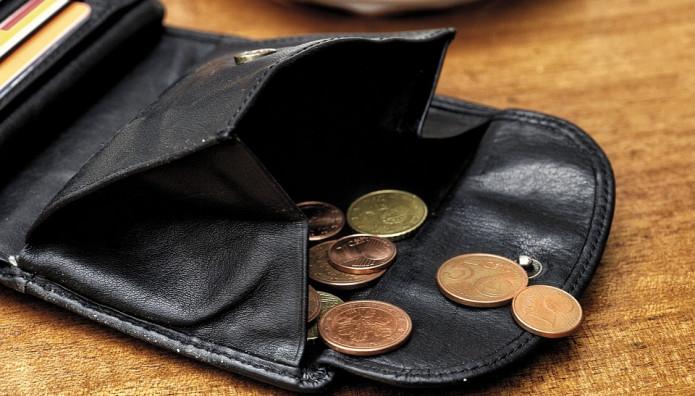 Κέρματα σε πορτοφόλι