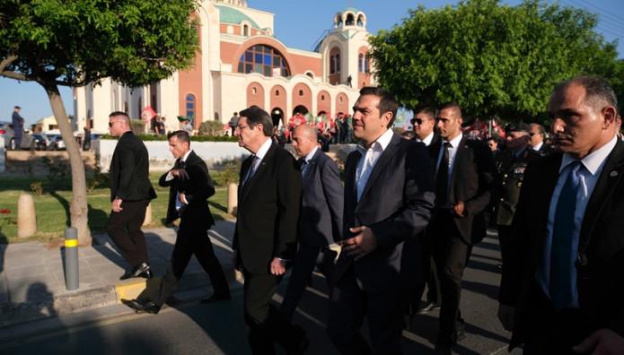 Αλέξης Τσίπρας κηδεία Χριστόφια