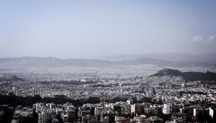 Οπτική της Αθήνας από ψηλά