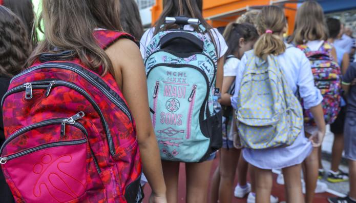 Μαθητές στον σχολικό Αγιασμό