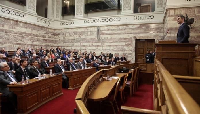 Ομιλία Μητσοτάκη στην Κοινοβουλευτική Ομάδα