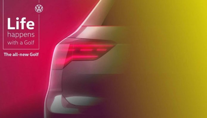 VW Golf teaser φωτογραφία