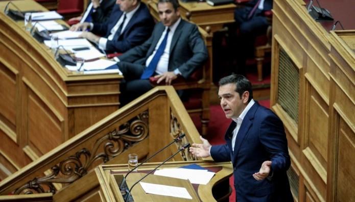 Αλέξης Τσίπρας Βουλή Κυριάκος Μητσοτάκης
