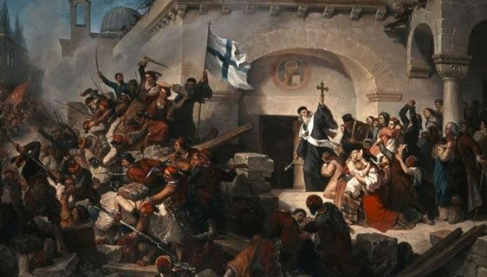 Πίνακας Γκαττέρι για το ολοκαύτωμα της Μονής Αρκαδίου στην Κρήτη