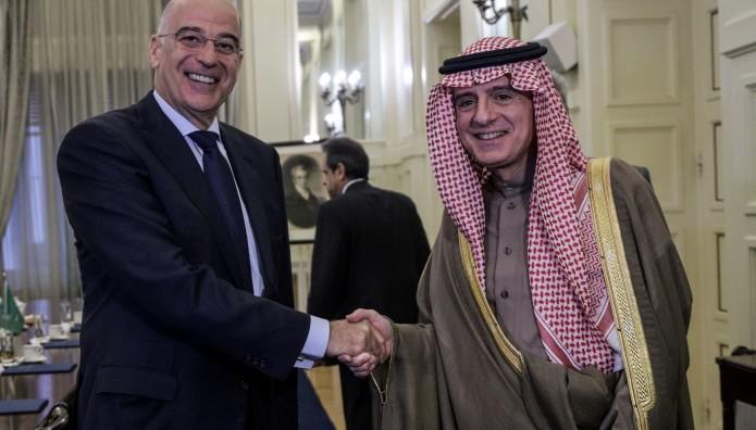 Νίκος Δένδιας και Adel al-Jubeir