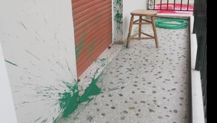 Επίθεση με μπογιές σε σπίτι Βρεττάκου
