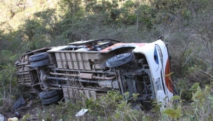 Λεωφορείο που ανατράπηκε στην Τυνησία