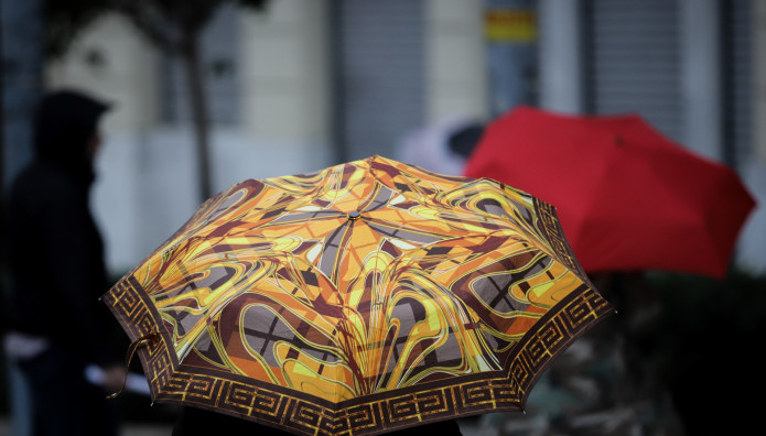 Ομπρέλα στη βροχή