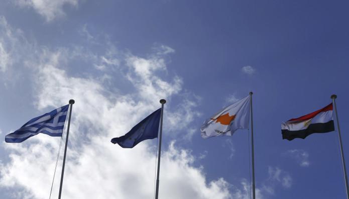 σημαίες Ελλάδας, Κύπρου , Αιγύπτου