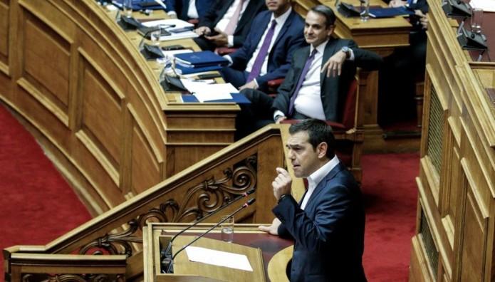 Αλέξης Τσίπρας Κυριάκος Μητσοτάκης Βουλή
