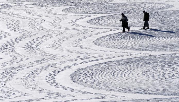 Ζωγραφική πάνω στο χιόνι