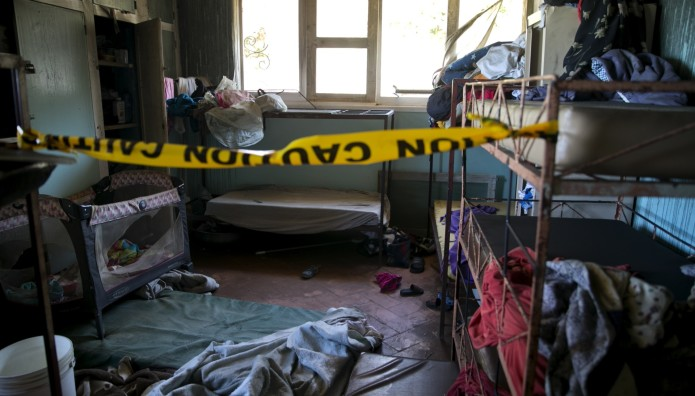 καμένο ορφανοτροφείο στην Αϊτή