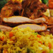 κοτόπουλο με τηγανητό ρύζι