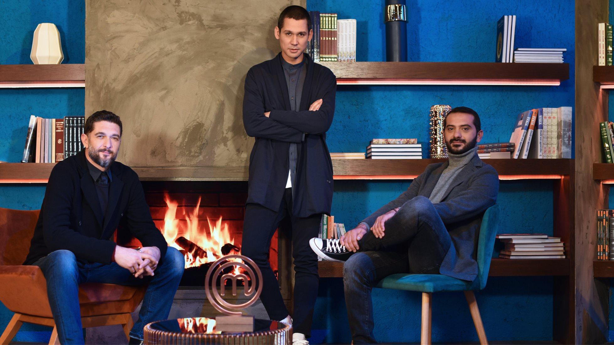 Οι κριτές του MasterChef Σωτήρης Κοντιζάς, Λεωνίδας Κουτσόπουλος και Πάνος Ιωαννίδης